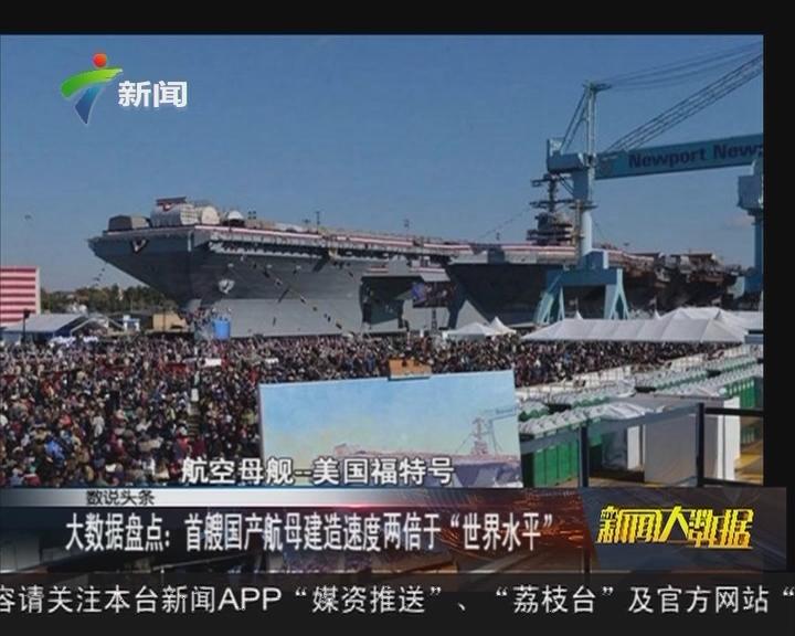 """大数据盘点:首艘国产航母建造速度两倍于""""世界水平"""""""