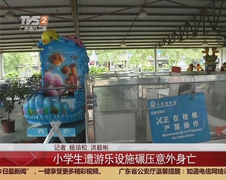 东莞:小学生遭游乐设施碾压意外身亡