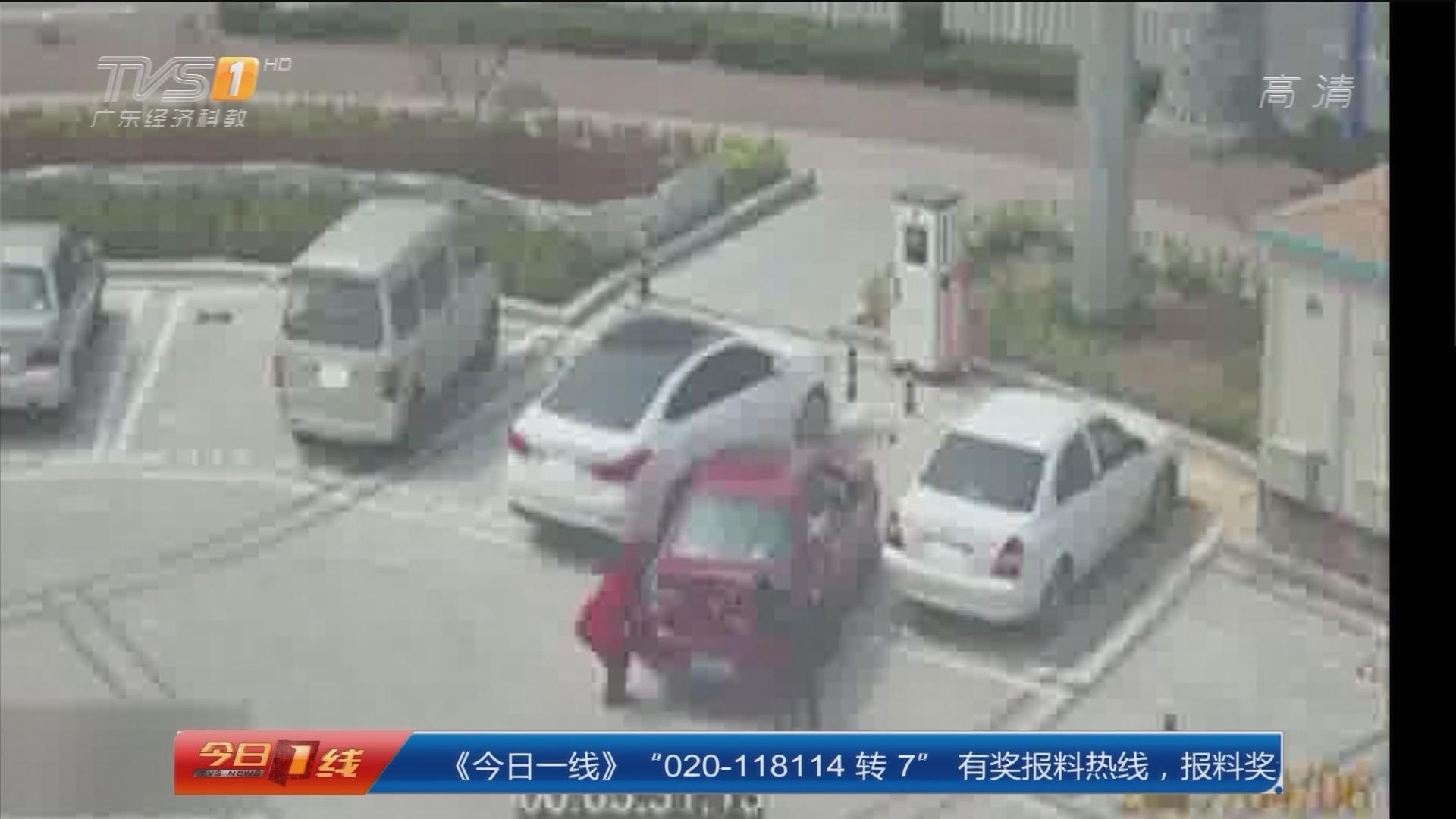 """山东:奇葩女司机""""抬车入库"""""""