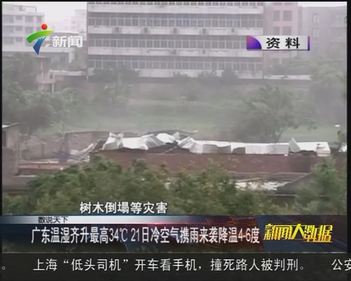 广东温湿齐升最高34℃21日冷空气携雨来袭降温4至6度