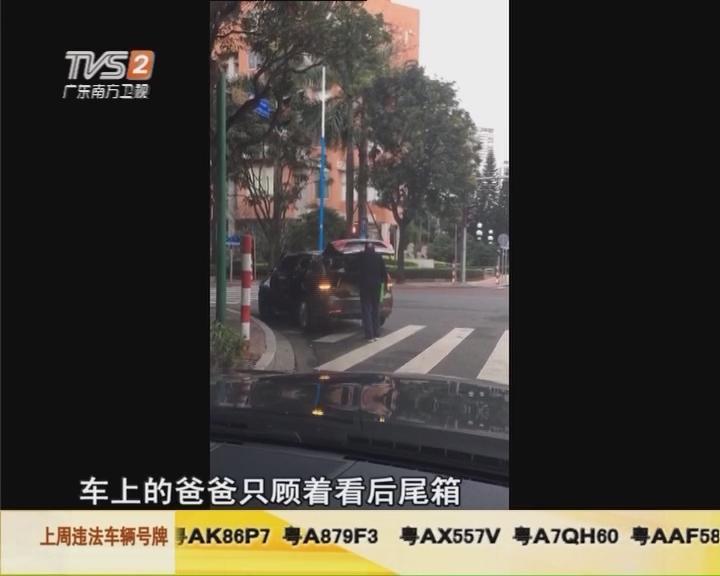 网友视频:小车违停斑马线上