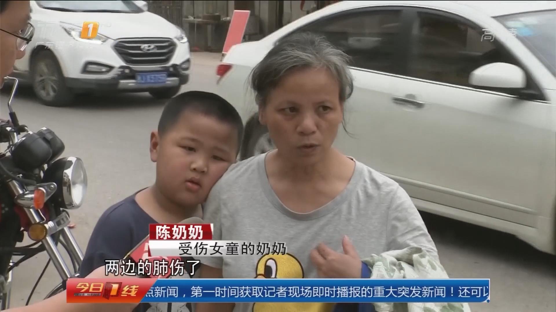 梅州兴宁:女童被卡车底 路人齐心施救