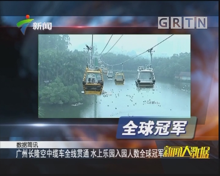 广州长隆空中缆车全线贯通 水上乐园入园人数全球冠军