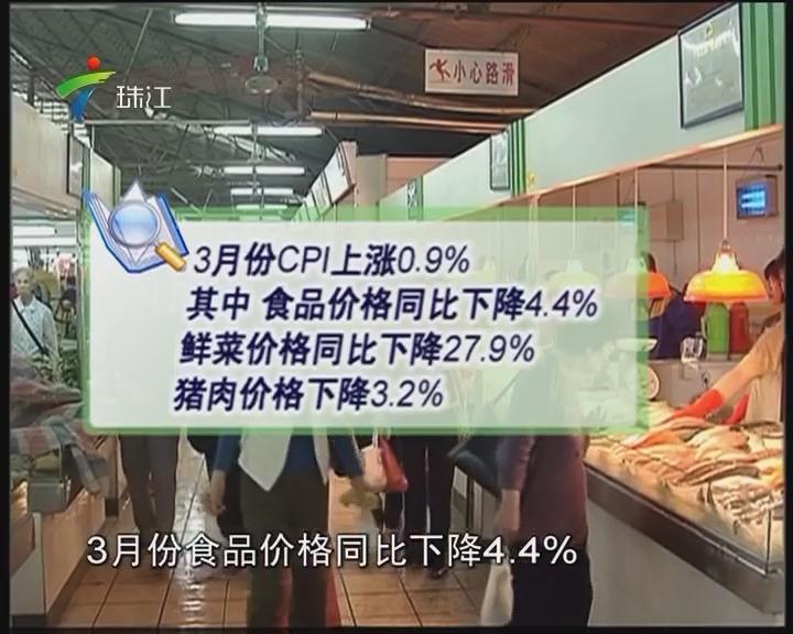 3月CPI同比涨0.9% 物价保持平稳态势