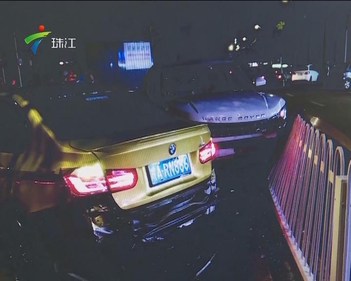 深圳:豪车撞豪车 两司机一个跑了一个醉了