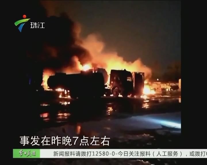 东莞:无证停车场内煤气罐爆燃 5人受伤