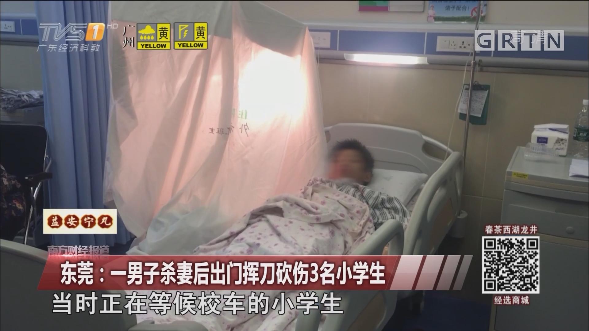 东莞:一男子杀妻后出门挥刀砍伤3名小学生