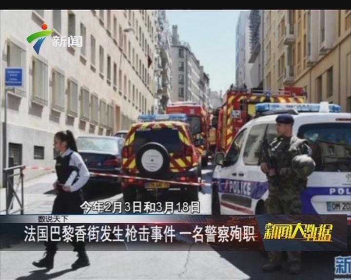 法国巴黎香街发生枪击事件 一名警察殉职