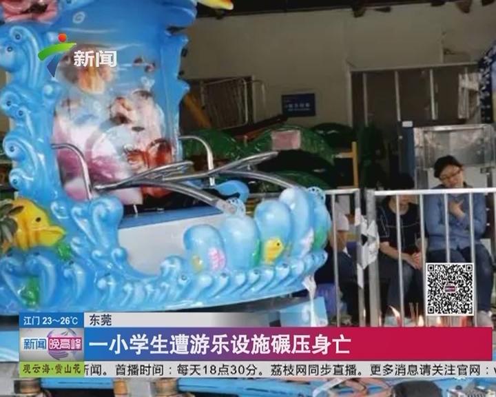 东莞:一小学生遭游乐设施碾压身亡