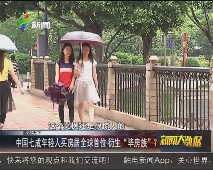 """中国七成年轻人买房居全球首位 衍生""""毕房族""""?"""