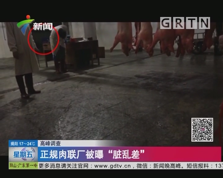 """高峰调查:正规肉联厂被曝""""脏乱差"""""""