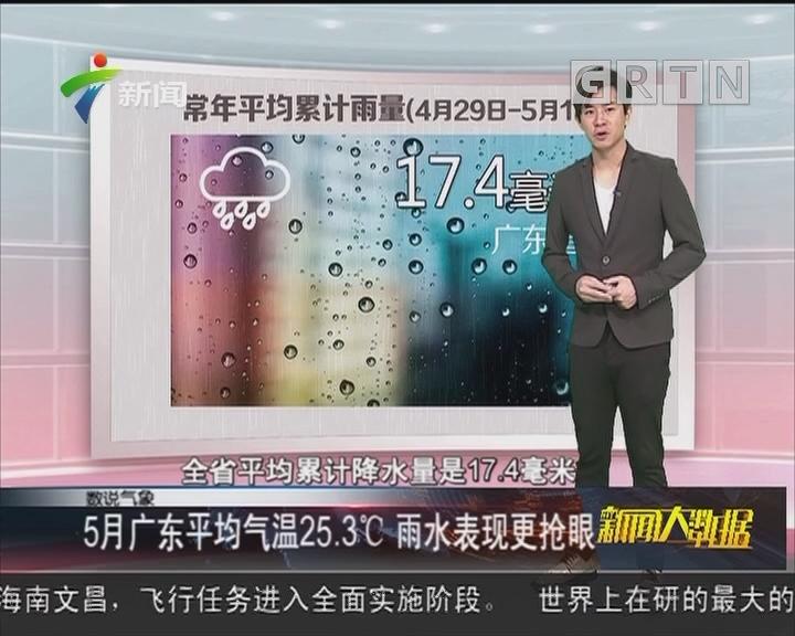 5月广东平均气温25.3℃ 雨水表现更抢眼