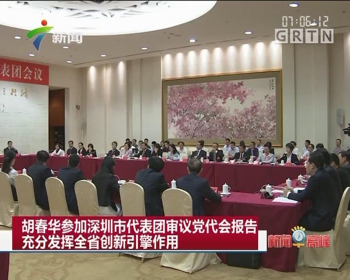 胡春华参加深圳市代表团审议党代会报告 充分发挥全省创新引擎作用