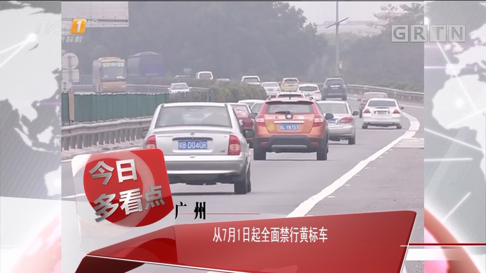 广州:从7月1日起全面禁行黄标车
