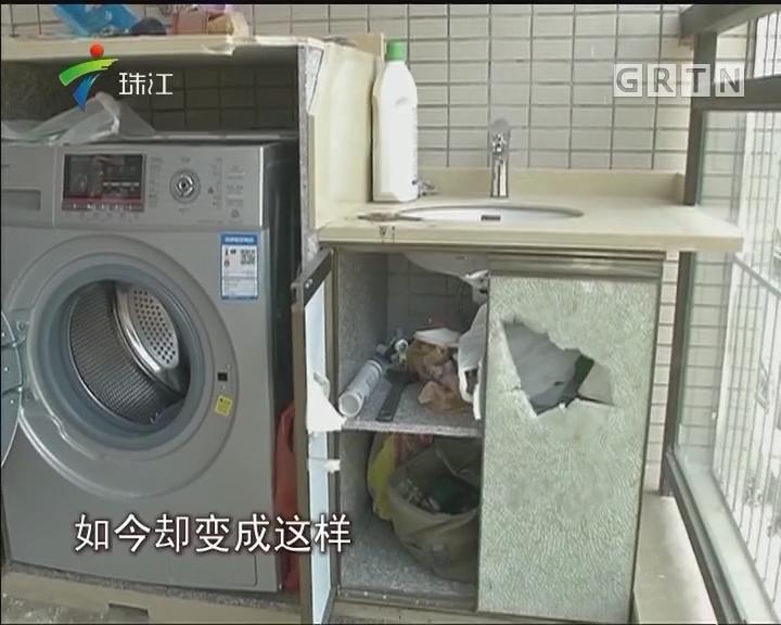 惠州:疑因感情纠纷新房被砸 警方介入调查
