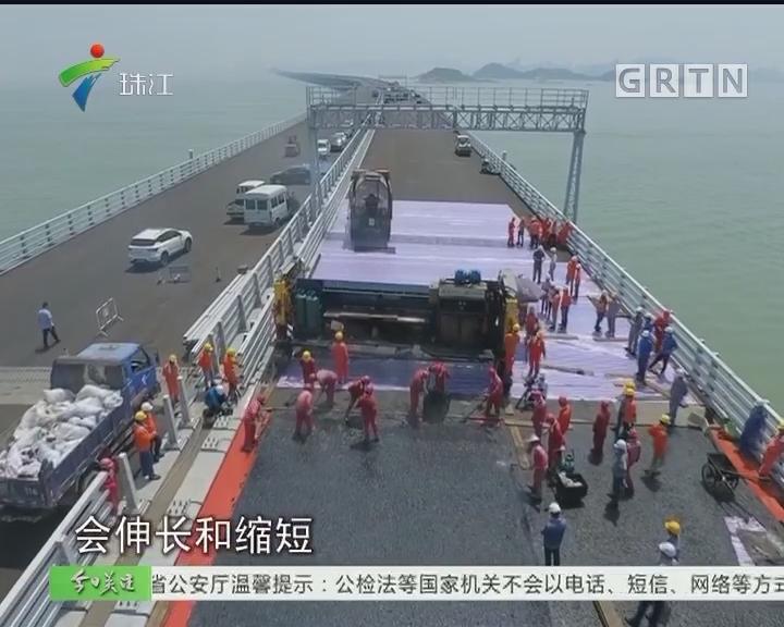 港珠澳大桥主线浇注式沥青完成铺装