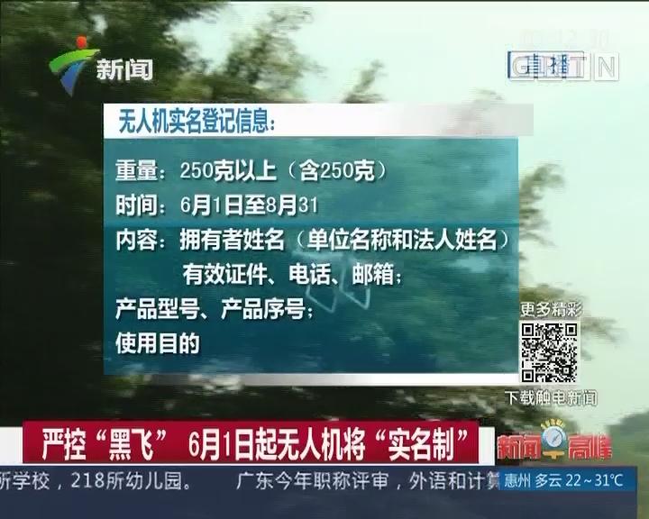 """严控""""黑飞"""" 6月1日起无人机将""""实名制"""""""