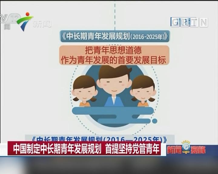 中国制定中长期青年发展规划 首提坚持党管青年