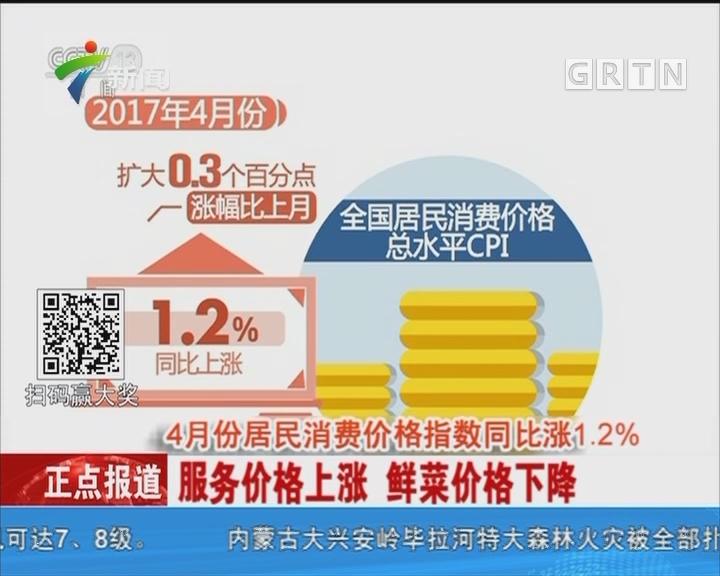 4月份居民消费价格指数同比涨1.2%:服务价格上涨 鲜菜价格下降