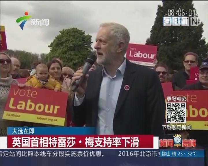 大选在即:英国首相特雷莎·梅支持率下滑