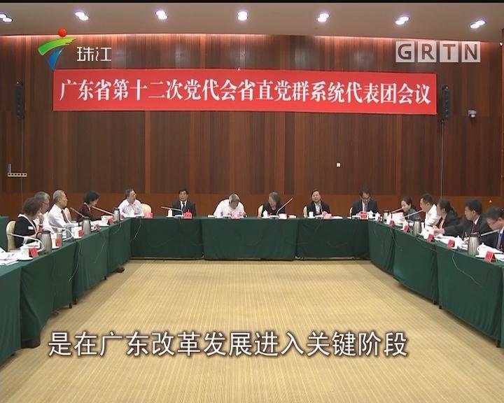 广东省第十二次党代会代表审议《报告》
