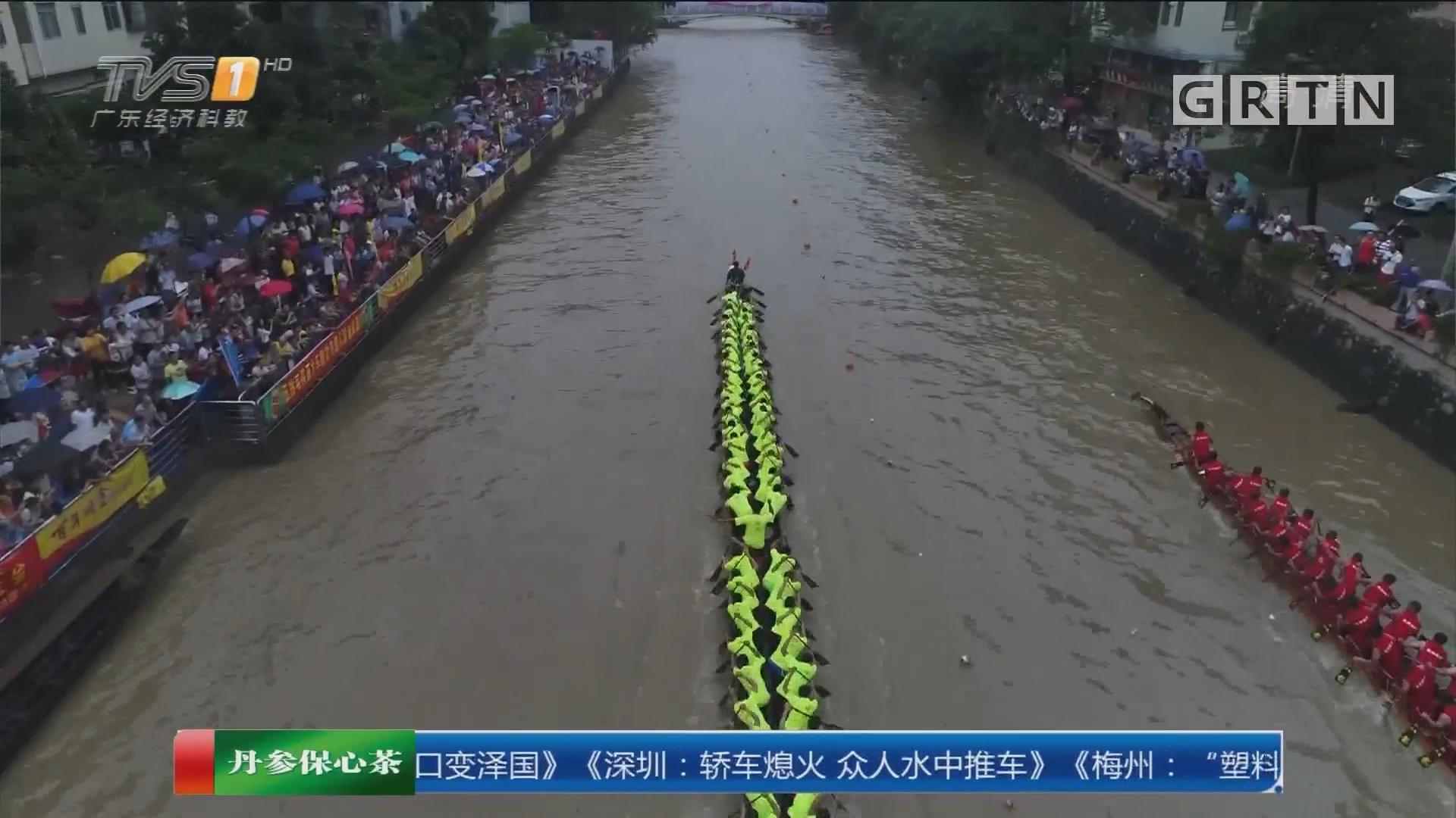 """广州车陂村:风浪中 车陂涌上再现""""激流勇进"""""""