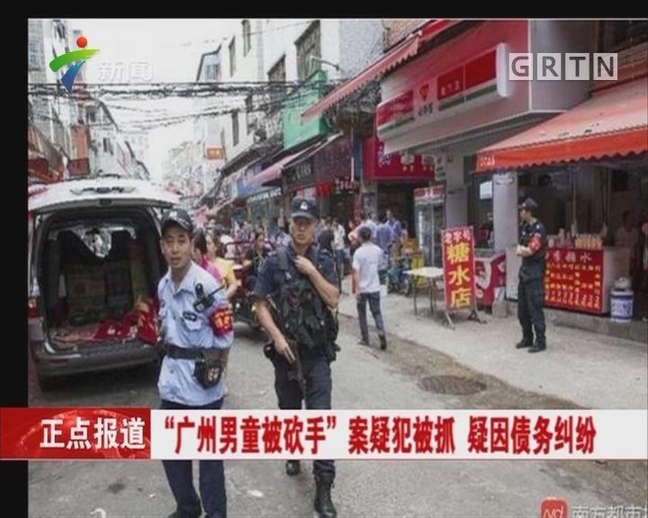 """""""广州男童被砍手""""案疑犯被抓 疑因债务纠纷"""