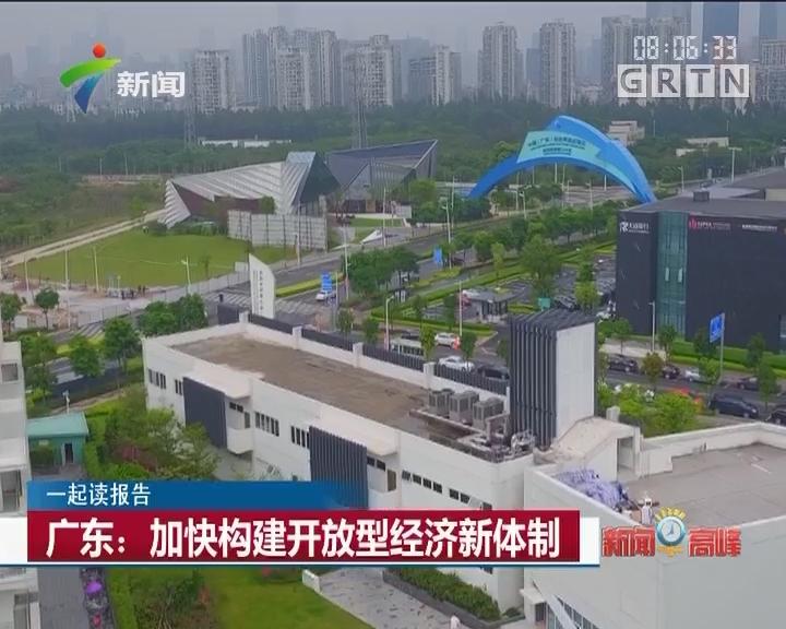 一起读报告:广东:加快构建开放型经济新体系