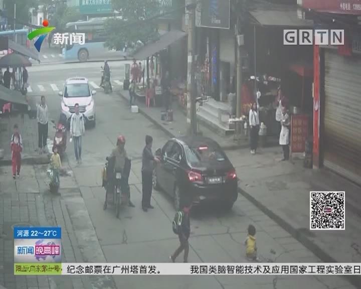 交通安全:小孩横穿马路 不料被卷进车底