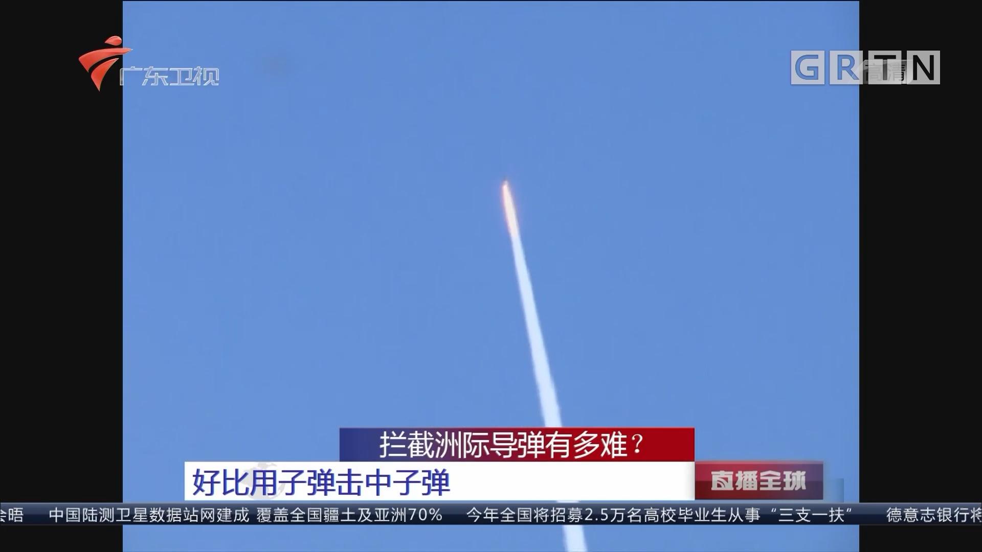 拦截洲际导弹有多难?好比用子弹击中子弹