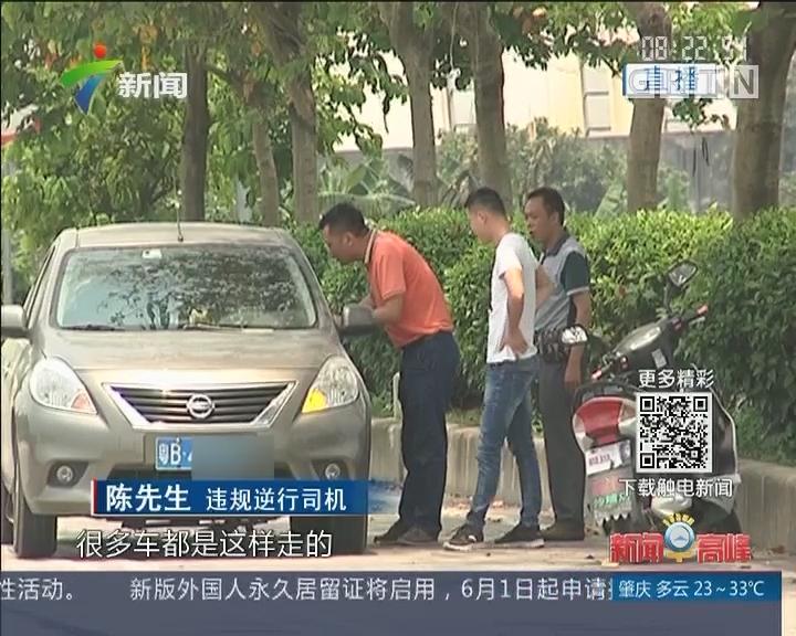 增城:车辆逆行现象泛滥 道路交通存隐患