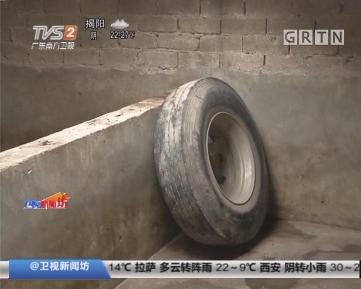 """潮州潮安:""""天降""""轮胎 猪被吓傻不进食"""