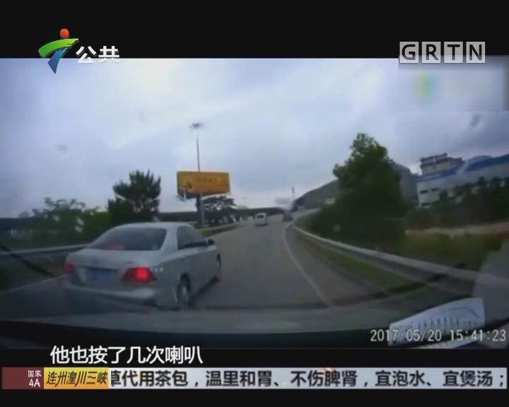 高速路上危险别车 警方已涉入处理