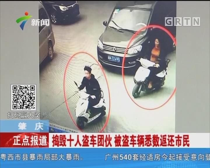 肇庆:捣毁十人盗车团伙 被盗车辆悉数返还市民