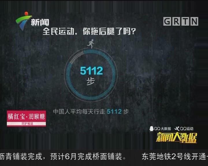 大数据显示:中国人日均走5112步 您拖后腿了吗?