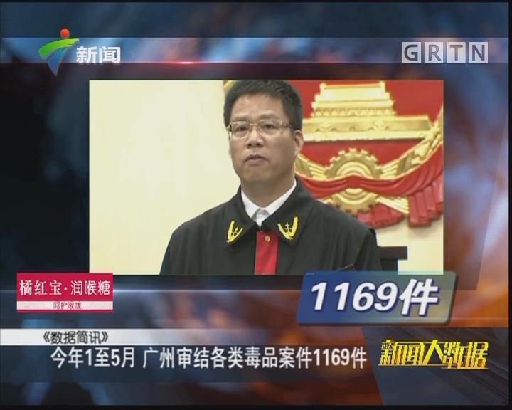 今年1至5月 广州审结各类毒品案件1169件