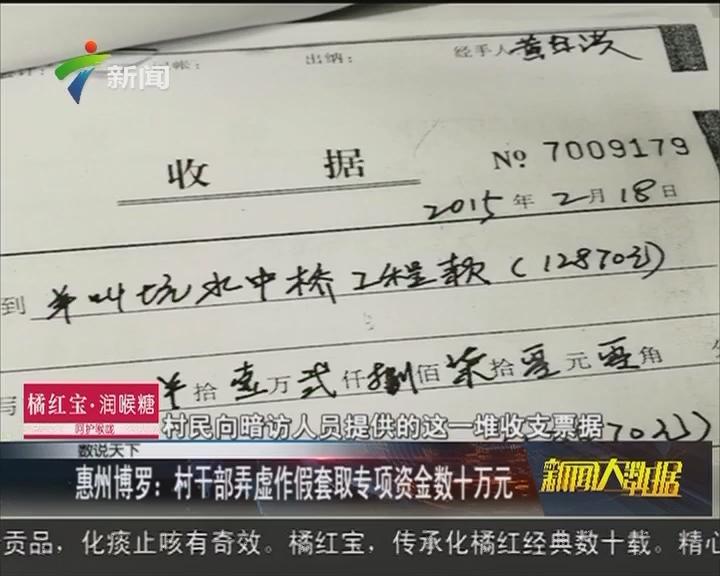 惠州博罗:村干部弄虚作假套取专项资金数十万元