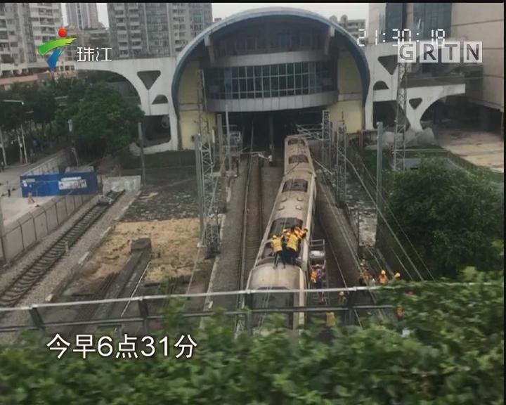 广州地铁一号线突发故障 芳村段延误