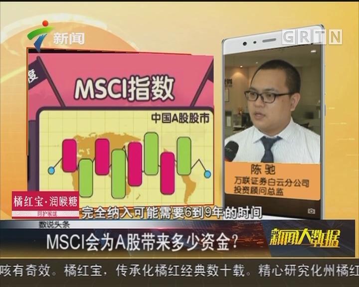 MSCI会为A股带来多少资金?