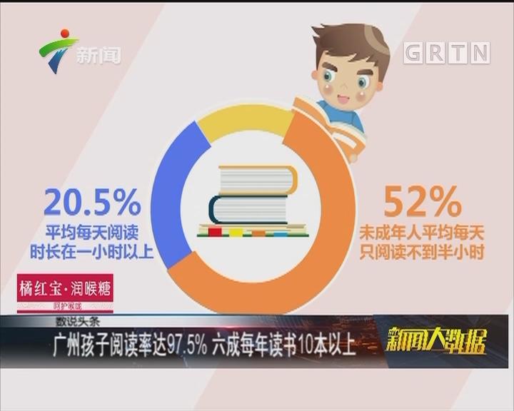 广州孩子阅读率达97.5% 六成每年读书10本以上