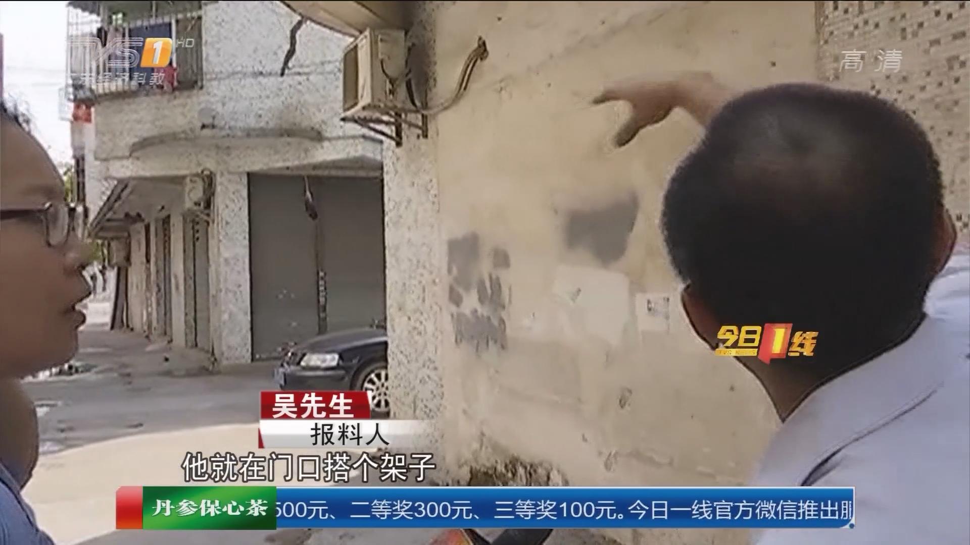 中山:出租屋门口养蜂 街坊心惊惊