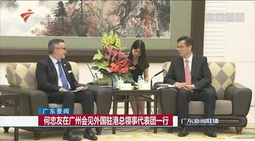何忠友在广州会见外国驻港总领事代表团一行