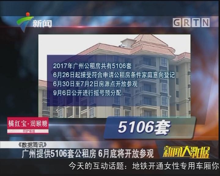 广州提供5106套公租房 6月底将开放参观