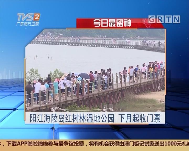今日最留神:阳江海陵岛红树林湿地公园 下月起收门票
