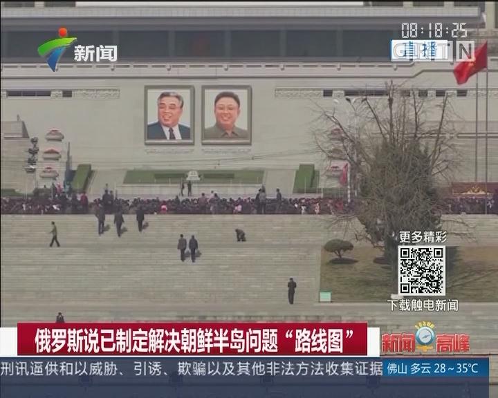 """俄罗斯说已制定解决朝鲜半岛问题""""路线图"""""""