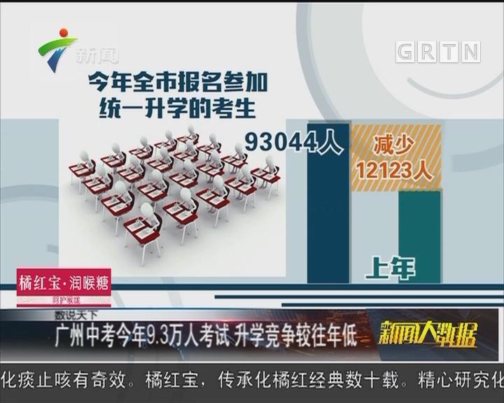 广州中考今年9.3万人考试 升学竞争较往年低