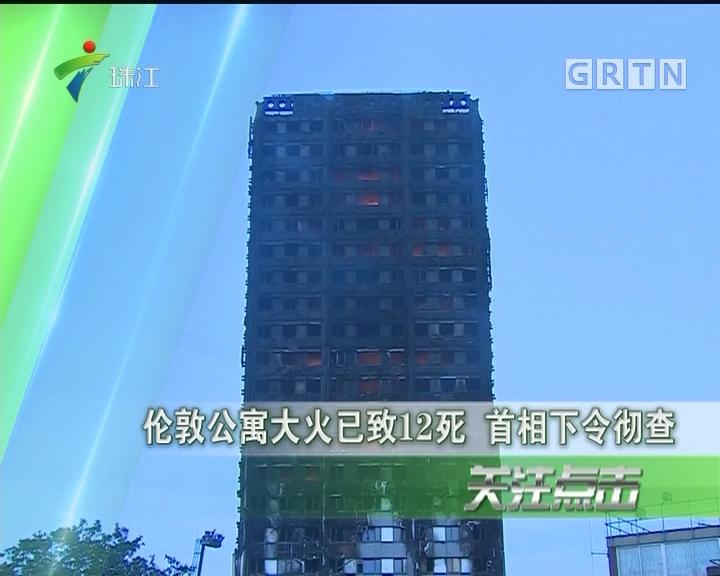 伦敦公寓大火已致12死 首相下令彻查
