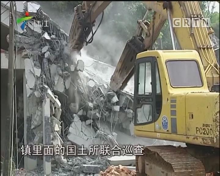 广州:市政快速路规划地块违建被强拆