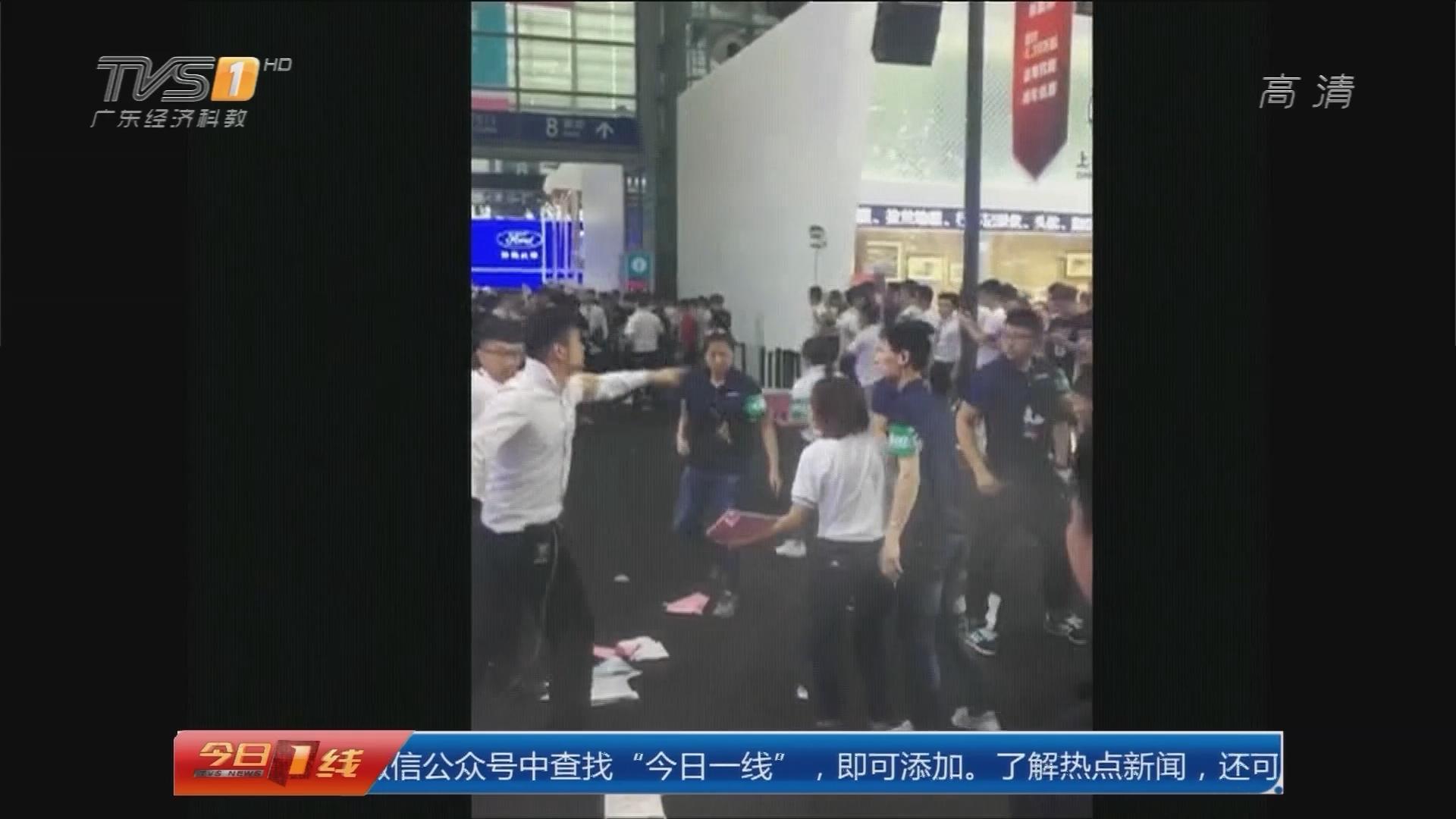 """深圳:车展上演""""全武行""""只因销售抢客?"""