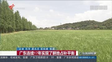 广东连续17年实现了耕地占补平衡